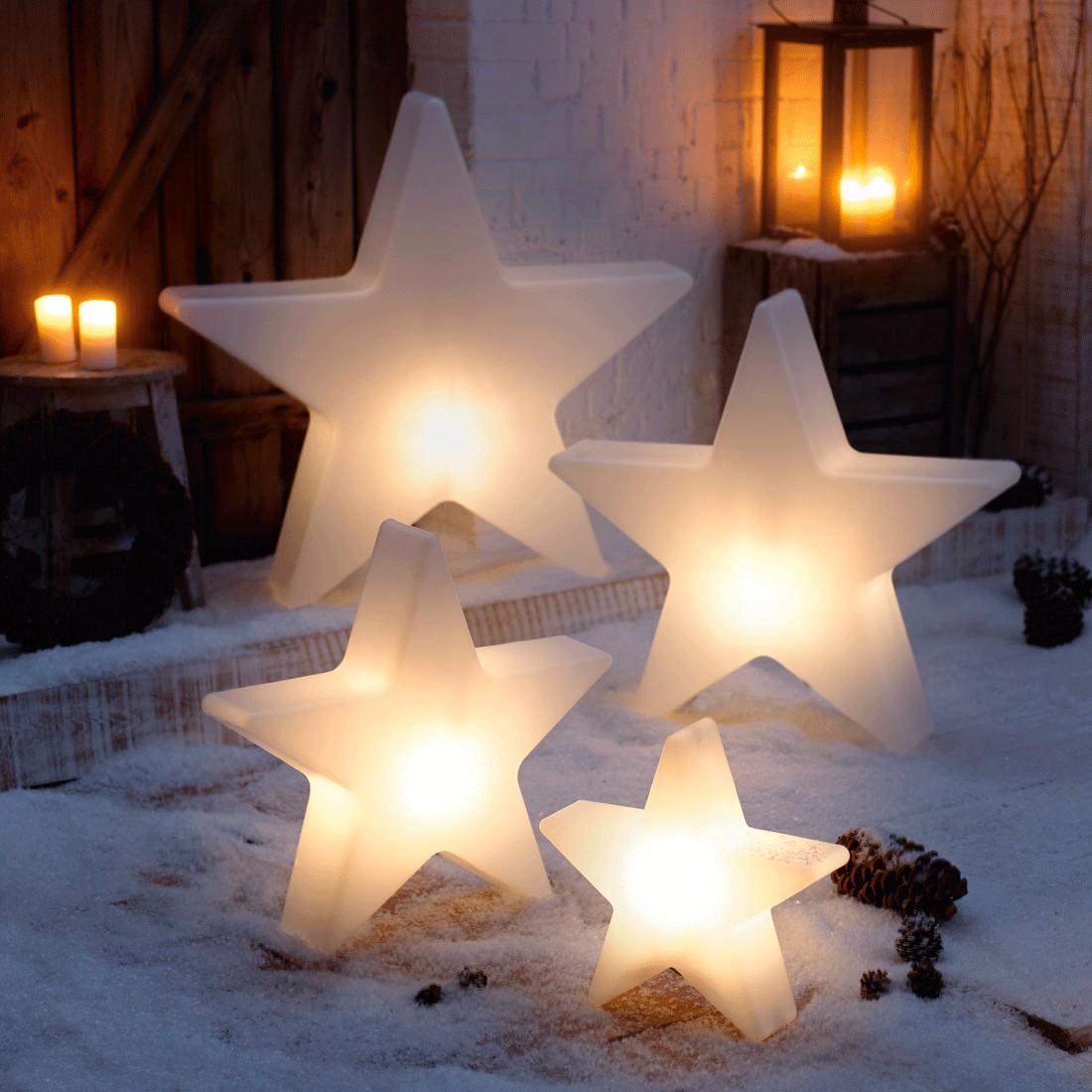 Weihnachtsstern Shiny 60 cm - Kunststoff - Weiß, Pure Day