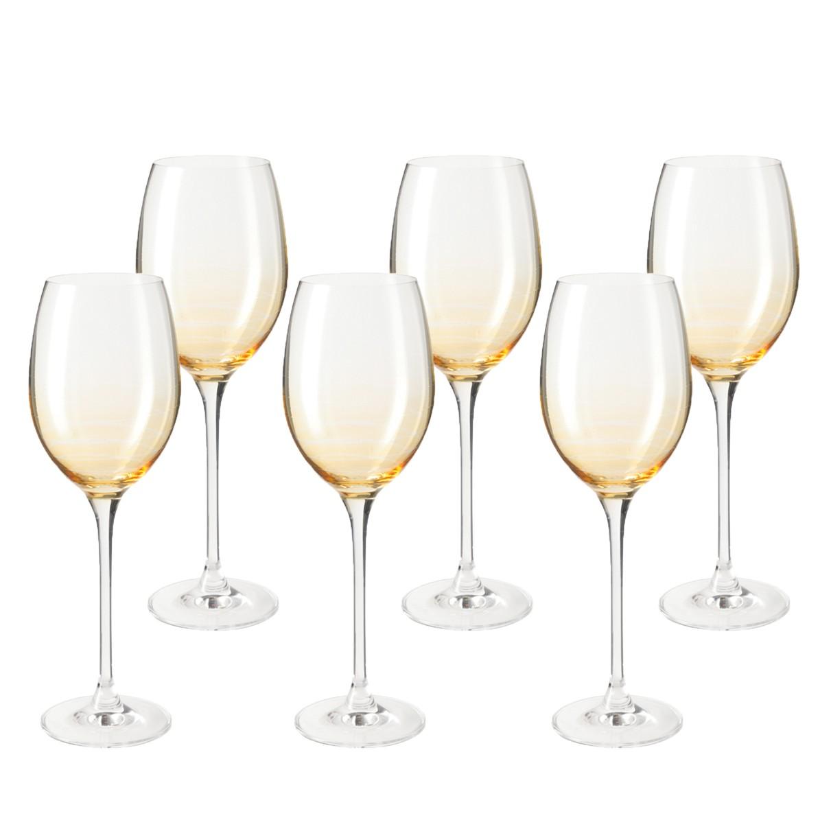 Weinglas Cheers (6er-Set) - Gelb, Leonardo