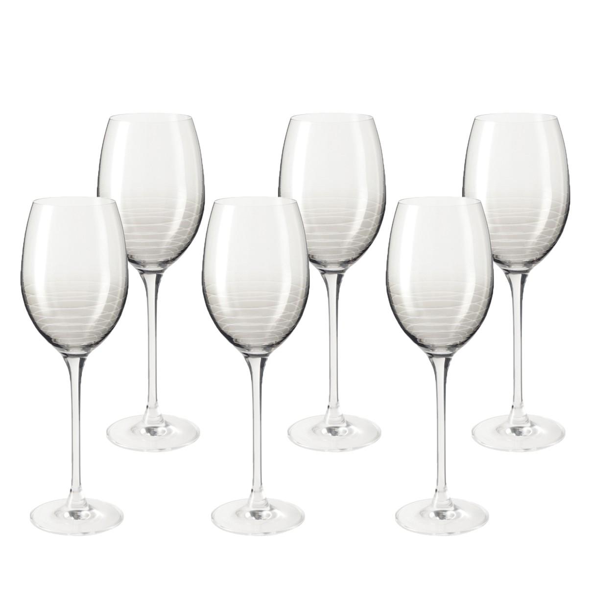 Weinglas Cheers (6er-Set) - Grau, Leonardo