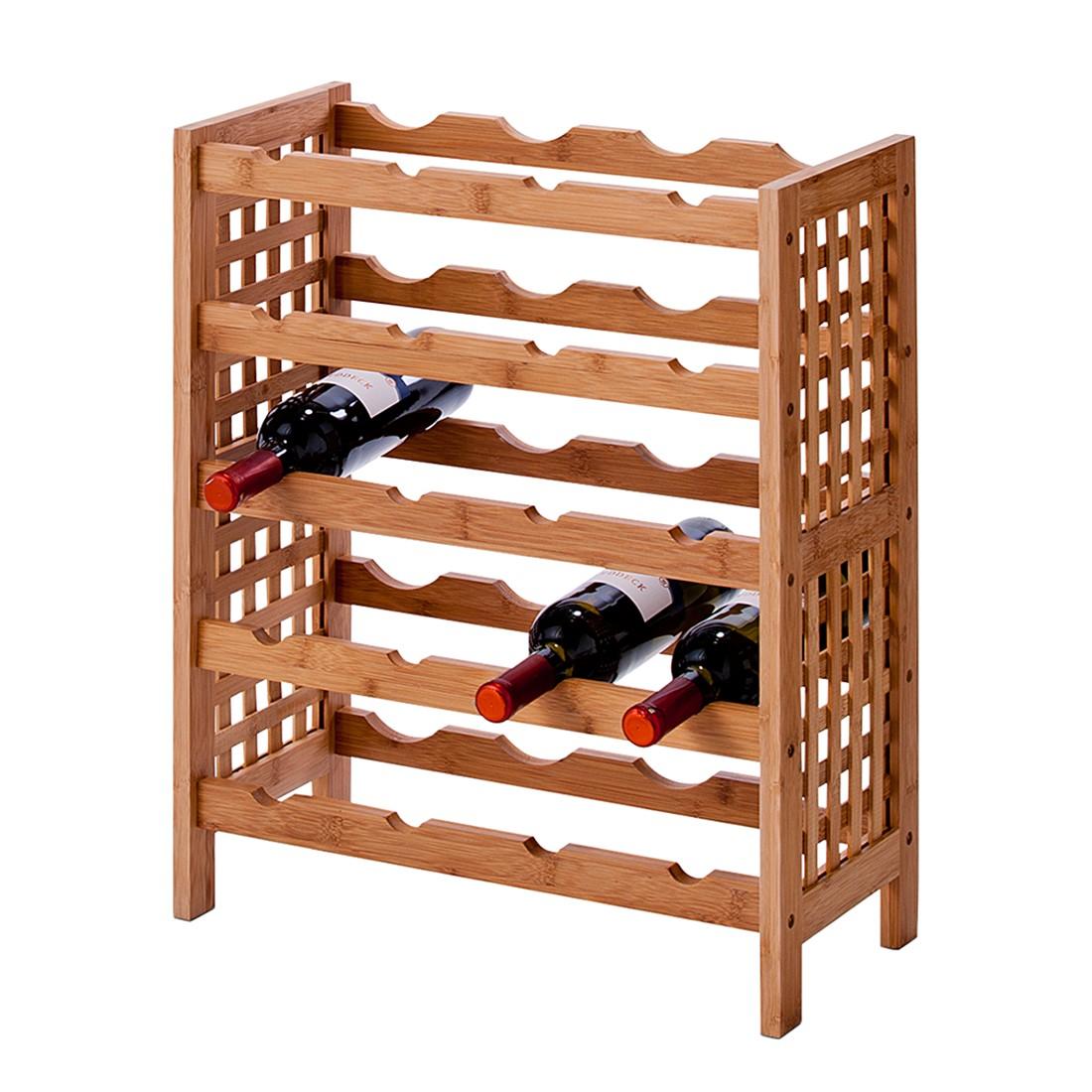 weinregal hakon bambus braun zeller online bestellen. Black Bedroom Furniture Sets. Home Design Ideas