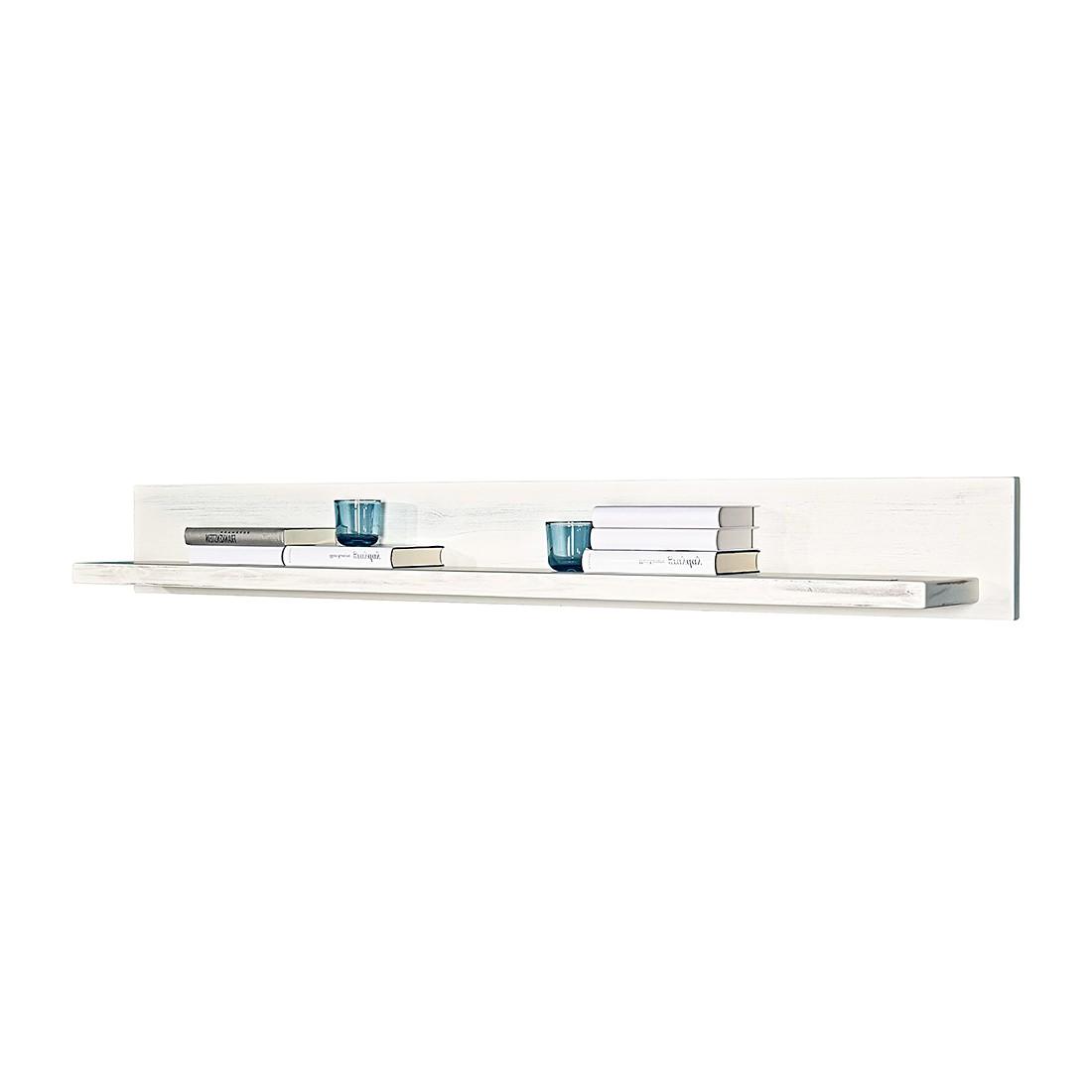 Wandboard Prado – Kiefer massiv – Mit Beleuchtung – Vintage Weiß – 167 cm, LMIE jetzt kaufen