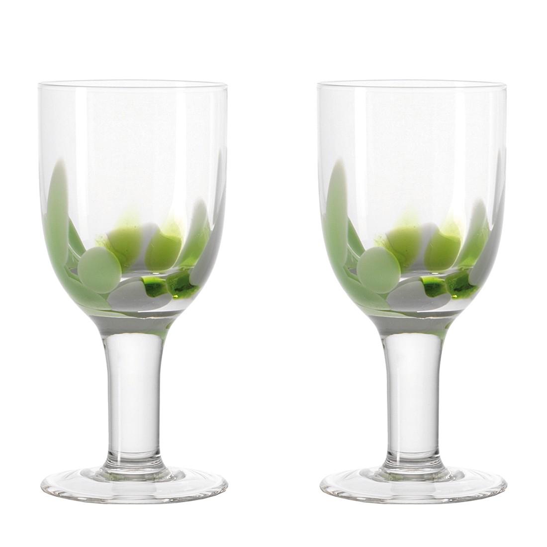 Weißweingläser Dots (2er-Set) – Grün, Leonardo jetzt kaufen