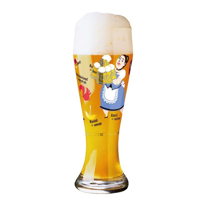 Weizenbierglas mit Bierdeckeln Weizen – 500 ml – Design Nils Kunath – 2006 – 1020084, Ritzenhoff günstig
