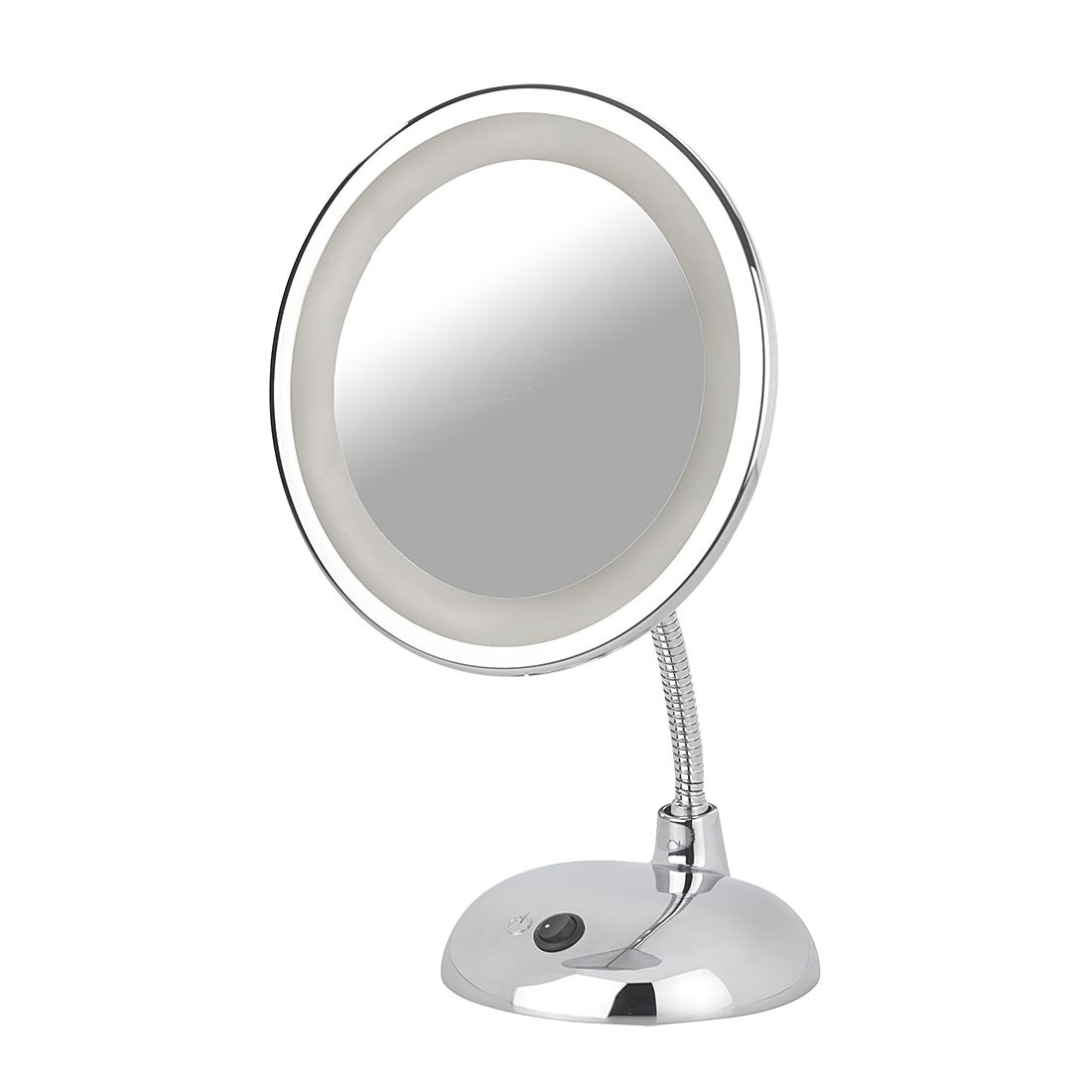 Miroir grossissant lumineux led style grossissement x 3 for Miroir grossissant 50