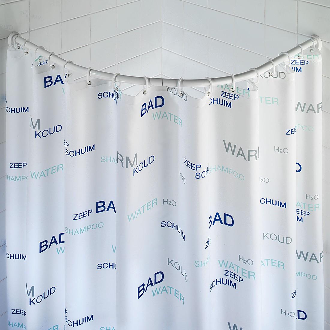 Tenda doccia antimuffa wenko prezzo e offerte sottocosto - Asta tenda doccia ...