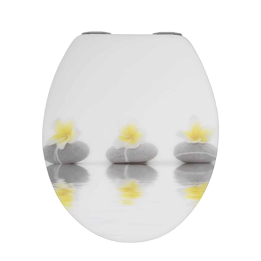WC-Sitz Hochglanz Steine und Blumen (Absenkautomatik), WENKO online bestellen
