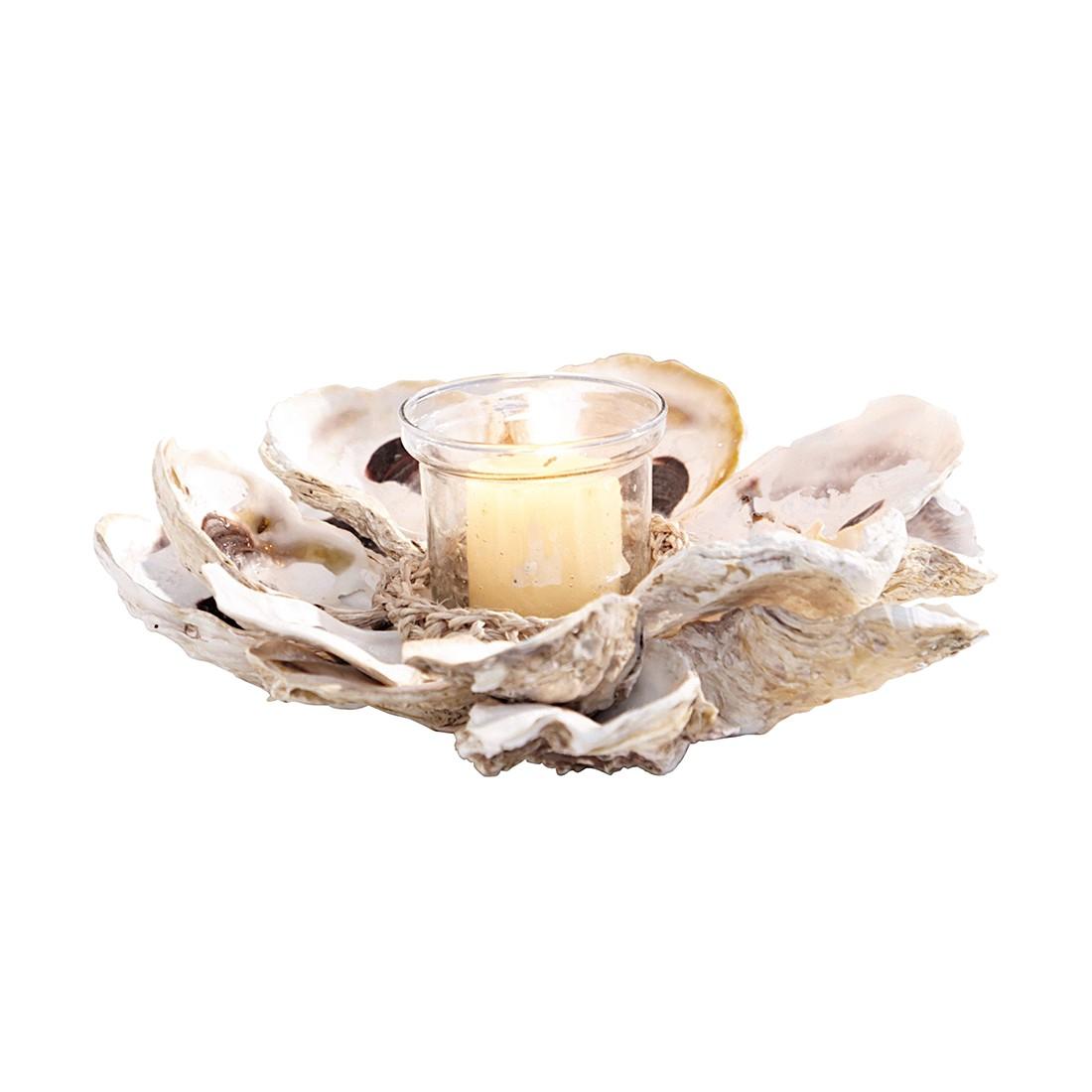 Windlicht 2er Set Shana – Austern/Manilahanf mit Glaseinsatz natur, Loberon jetzt kaufen