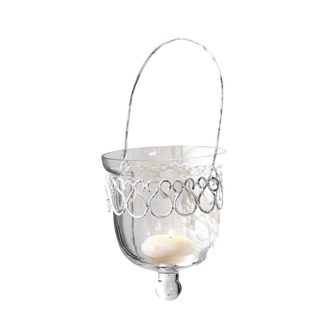 Windlichter, 2er Set Esme – Glas und Metall klar, Loberon günstig online kaufen