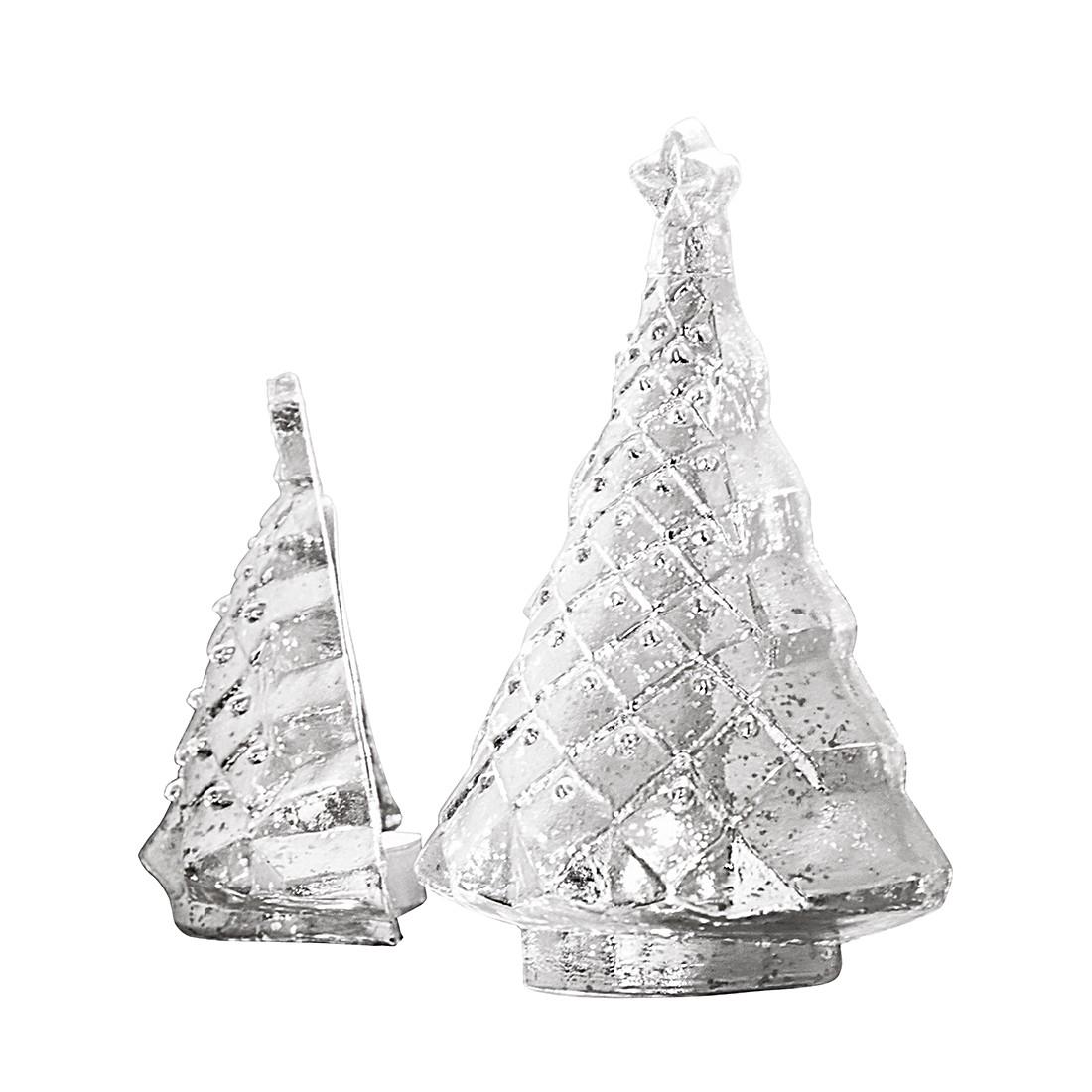 Windlichter Muriel (2er-Set) – Glas – Silber, Loberon online bestellen