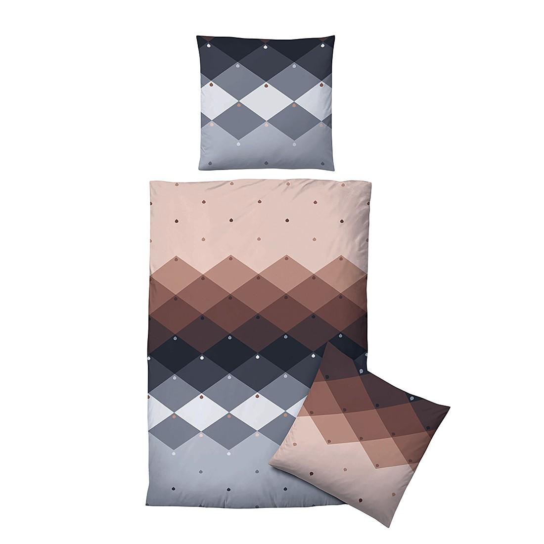 Winter-Soft-Seersucker Bettwäsche Charlotte – 135 x 200 cm + Kissen 80 x 80 cm, Biberna günstig bestellen