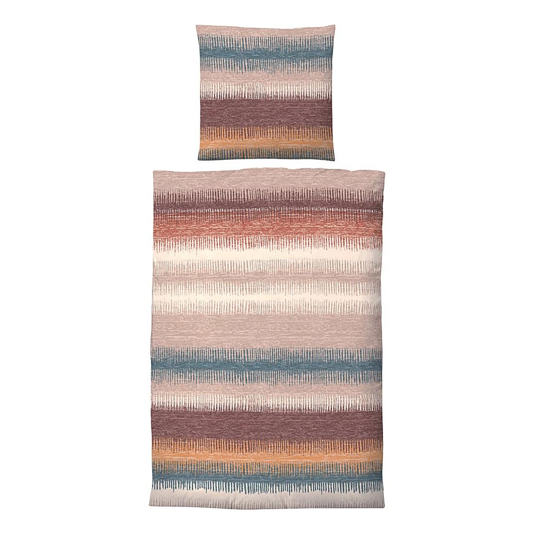 Winter-Soft-Seersucker Bettwäsche Charlotte – Taupe – 155 x 200 cm + Kissen 80 x 80 cm, Biberna günstig bestellen