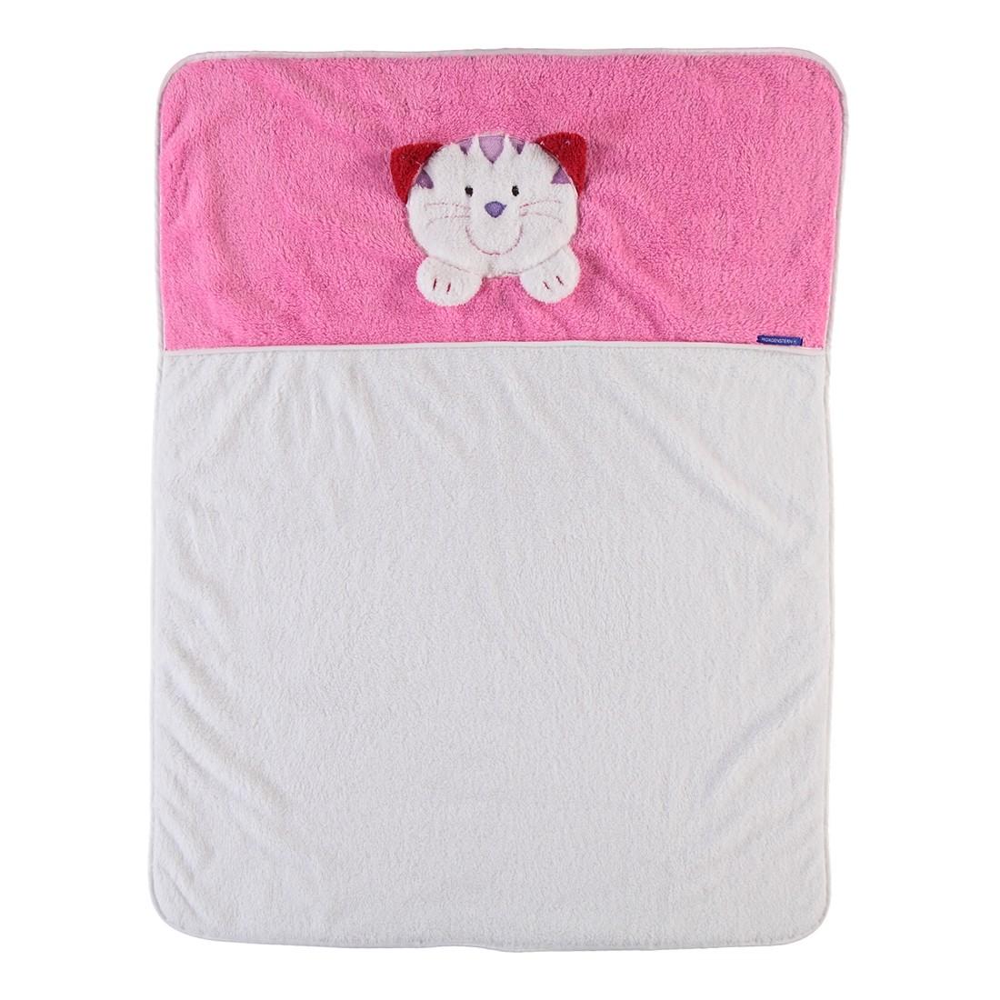 Wohndecke Animals Katze – Polyester – Natur/Rosa, Morgenstern online kaufen