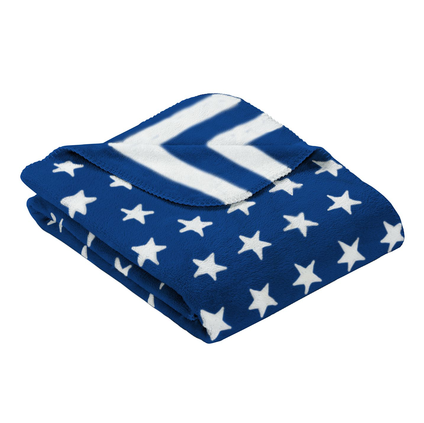 Wohndecke Stars & Stripes - Blau, Goldmond