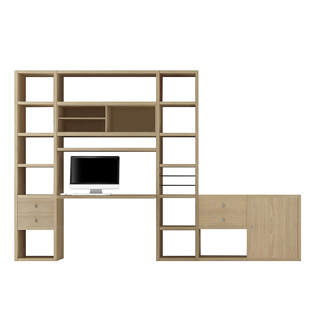 Wohnkombination Emporior II - Eiche Dekor, loftscape