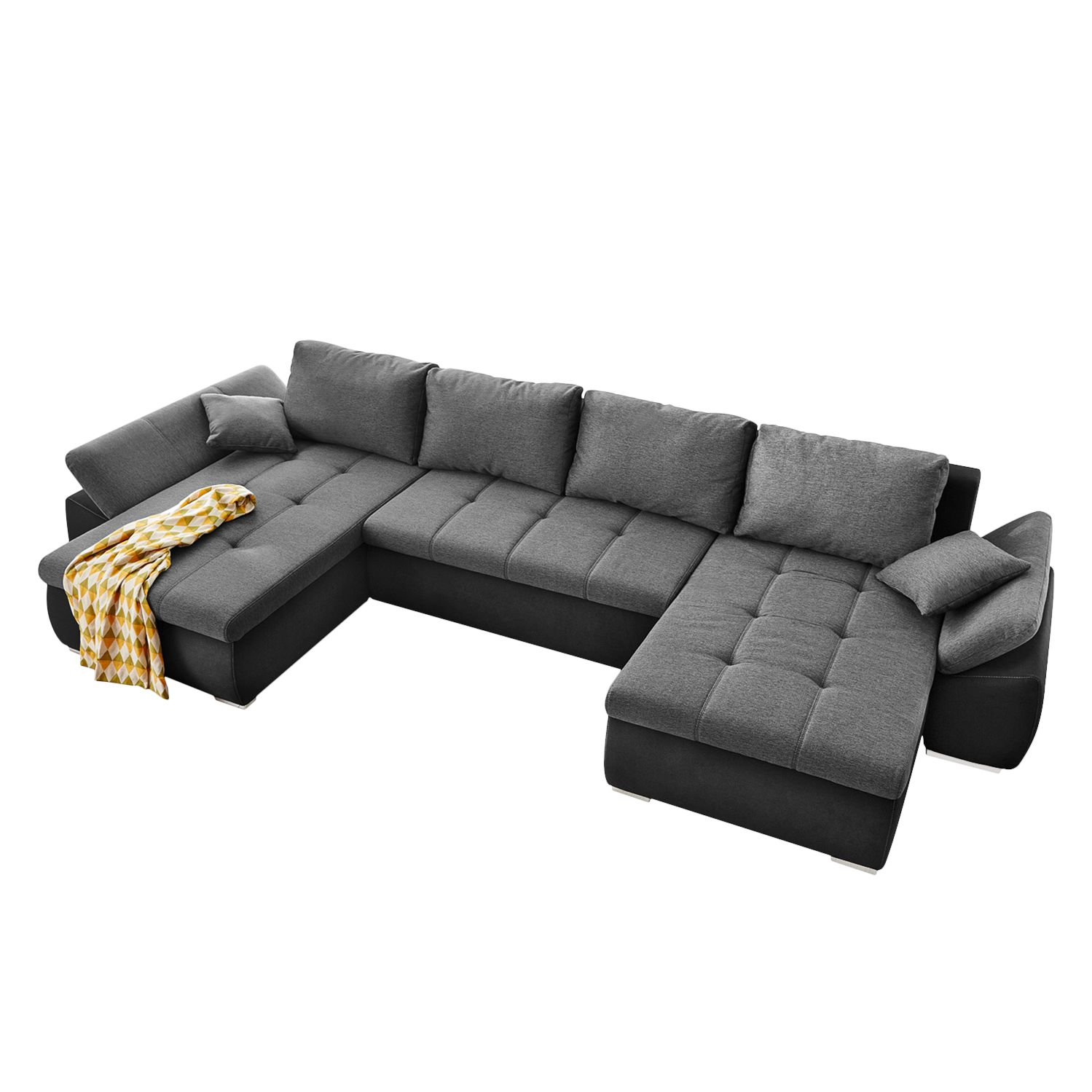 wohnlandschaft mit schlaffunktion wohnlandschaft u form. Black Bedroom Furniture Sets. Home Design Ideas