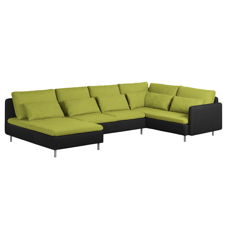 wohnlandschaft gr n preisvergleiche erfahrungsberichte. Black Bedroom Furniture Sets. Home Design Ideas