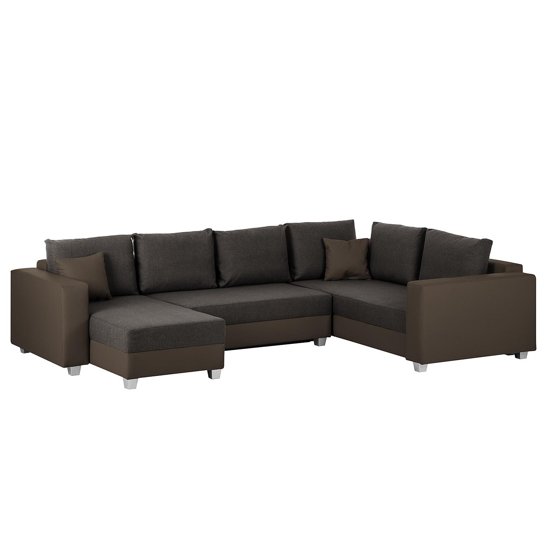 wohnlandschaft braun kunstleder neuesten. Black Bedroom Furniture Sets. Home Design Ideas