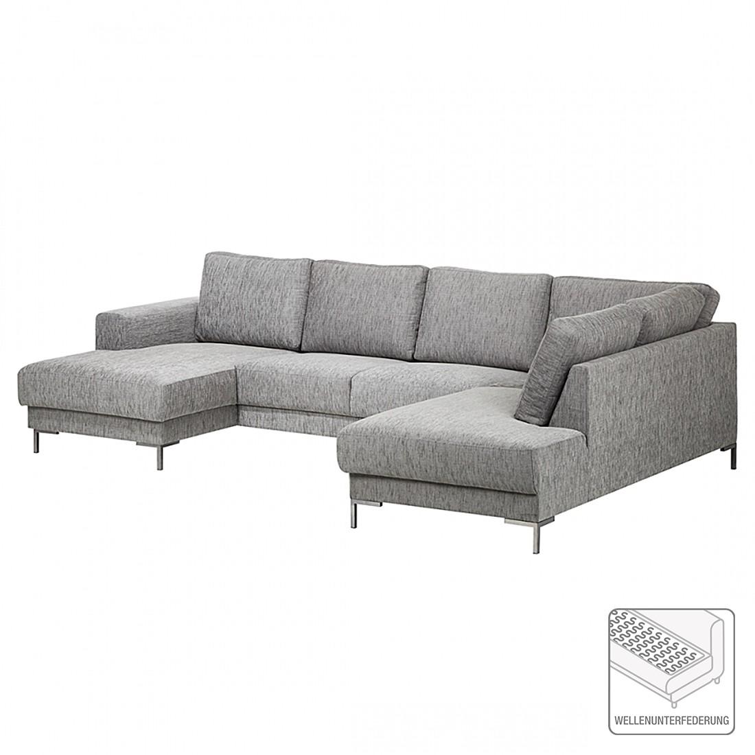 moderne wohnzimmer ideen grau geschickt kombinieren wohnlandschaften wohnideen. Black Bedroom Furniture Sets. Home Design Ideas