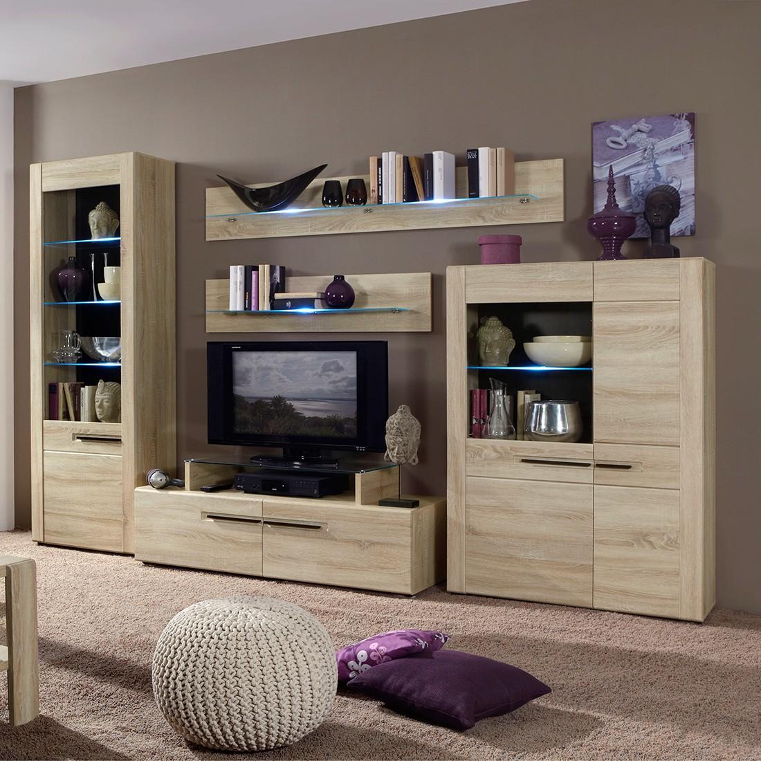 wohnwand ohne fernsehteil free wohnwand hell zu. Black Bedroom Furniture Sets. Home Design Ideas