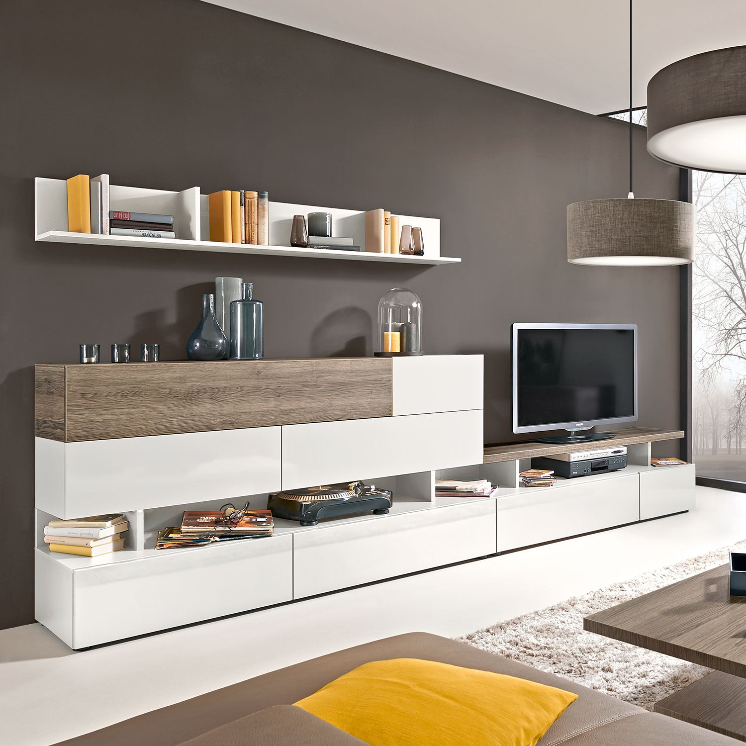 wohnwand holz dunkel neuesten design kollektionen f r die familien. Black Bedroom Furniture Sets. Home Design Ideas