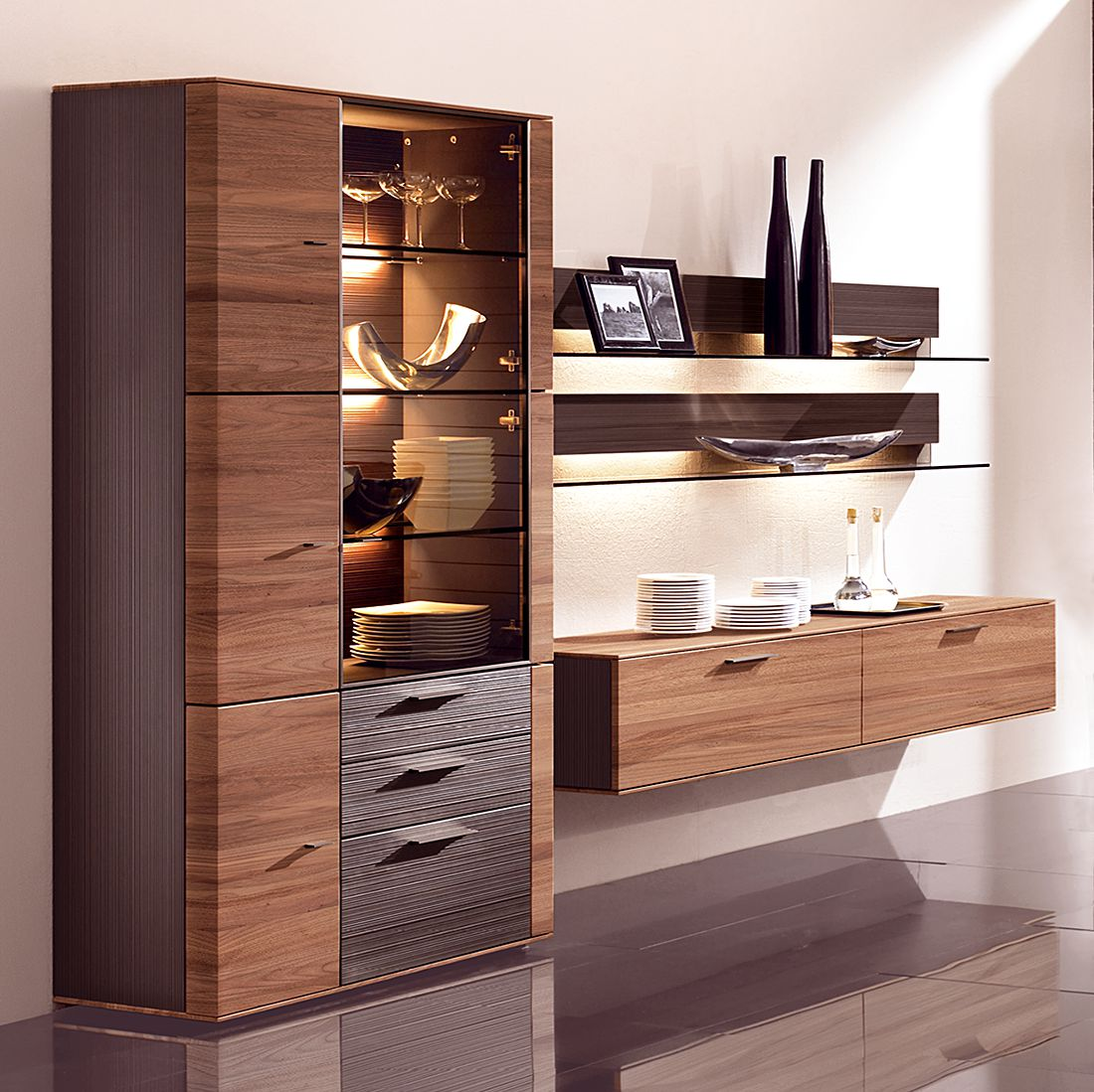 cando i 4delig massief walnotenhout zonder verlichting. Black Bedroom Furniture Sets. Home Design Ideas