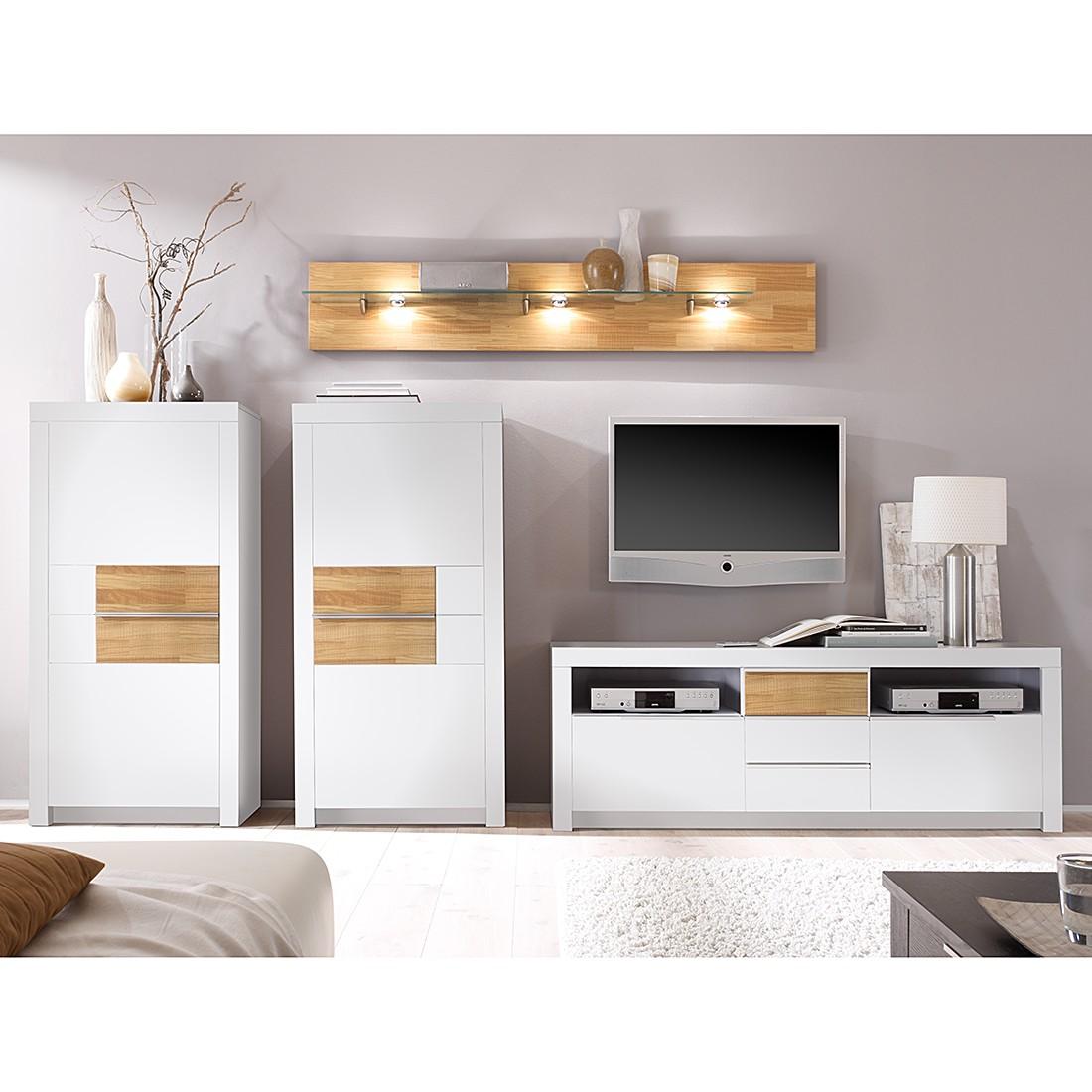 wohnwand oregon 4 teilig kernbuche massiv ge lt gewachst wohnwand 4 teilig ohne. Black Bedroom Furniture Sets. Home Design Ideas