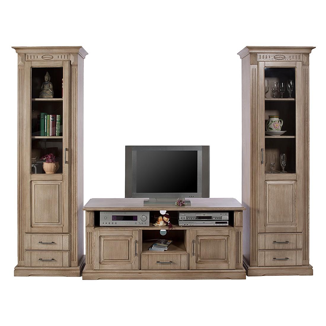 wohnwand parzival i 3 teilig eiche teilmassiv tr ffel jung s hne g nstig. Black Bedroom Furniture Sets. Home Design Ideas