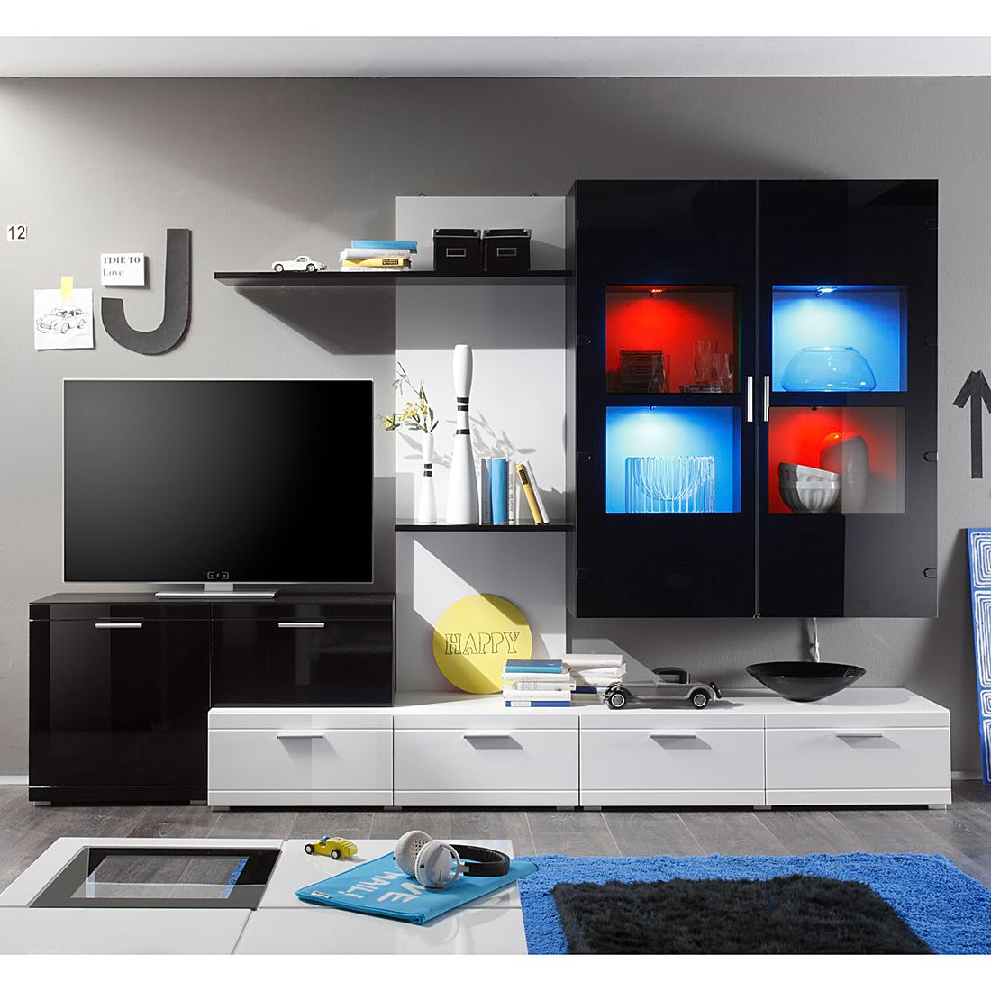 roller wohnwand cube interessante ideen f r die gestaltung eines raumes in ihrem. Black Bedroom Furniture Sets. Home Design Ideas