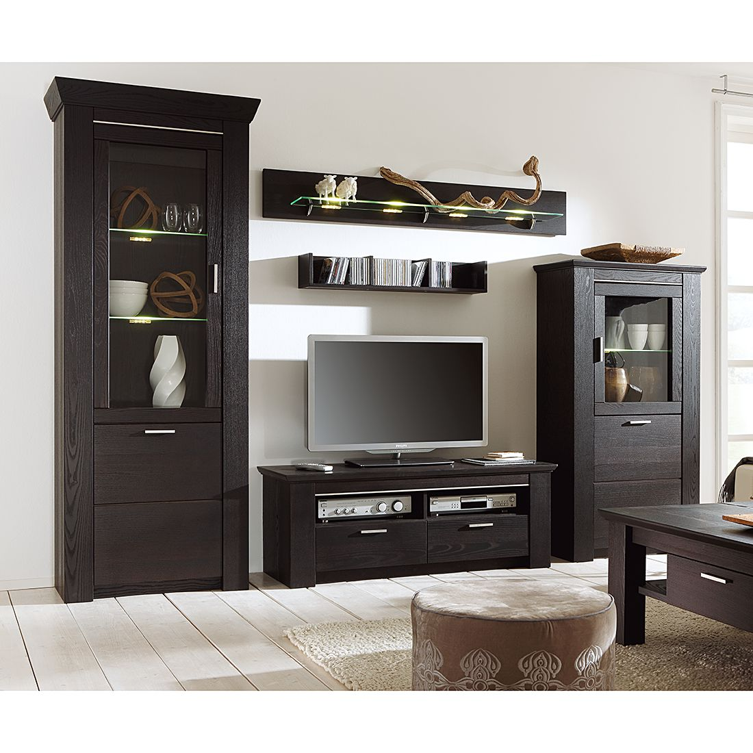 schwebet renschrank schwarz braun. Black Bedroom Furniture Sets. Home Design Ideas