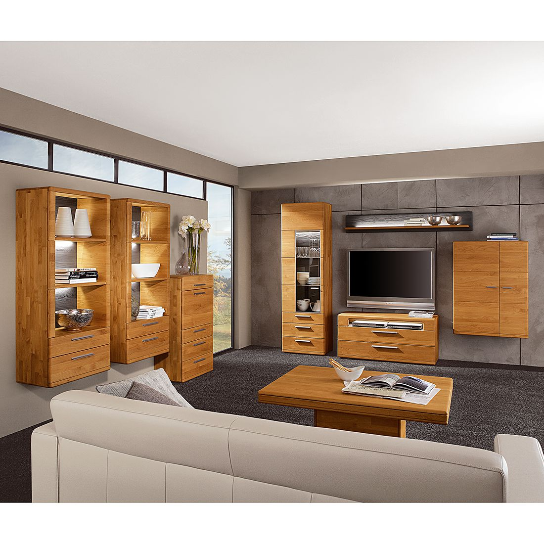 h ngeschrank optima ii erle massiv hartmann kaufen. Black Bedroom Furniture Sets. Home Design Ideas