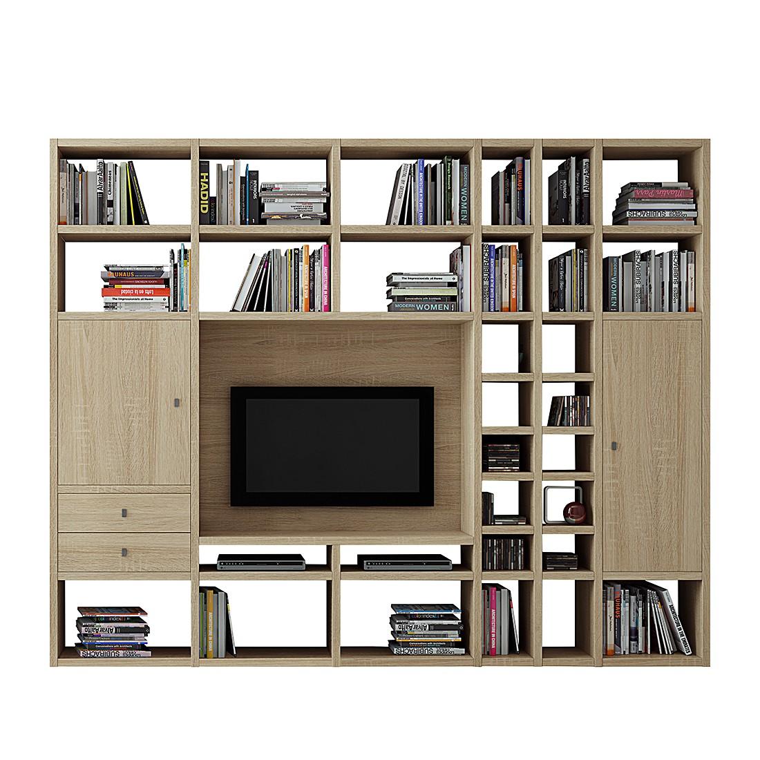 wohnwand emporior ii sonoma eiche dekor loftscape jetzt. Black Bedroom Furniture Sets. Home Design Ideas