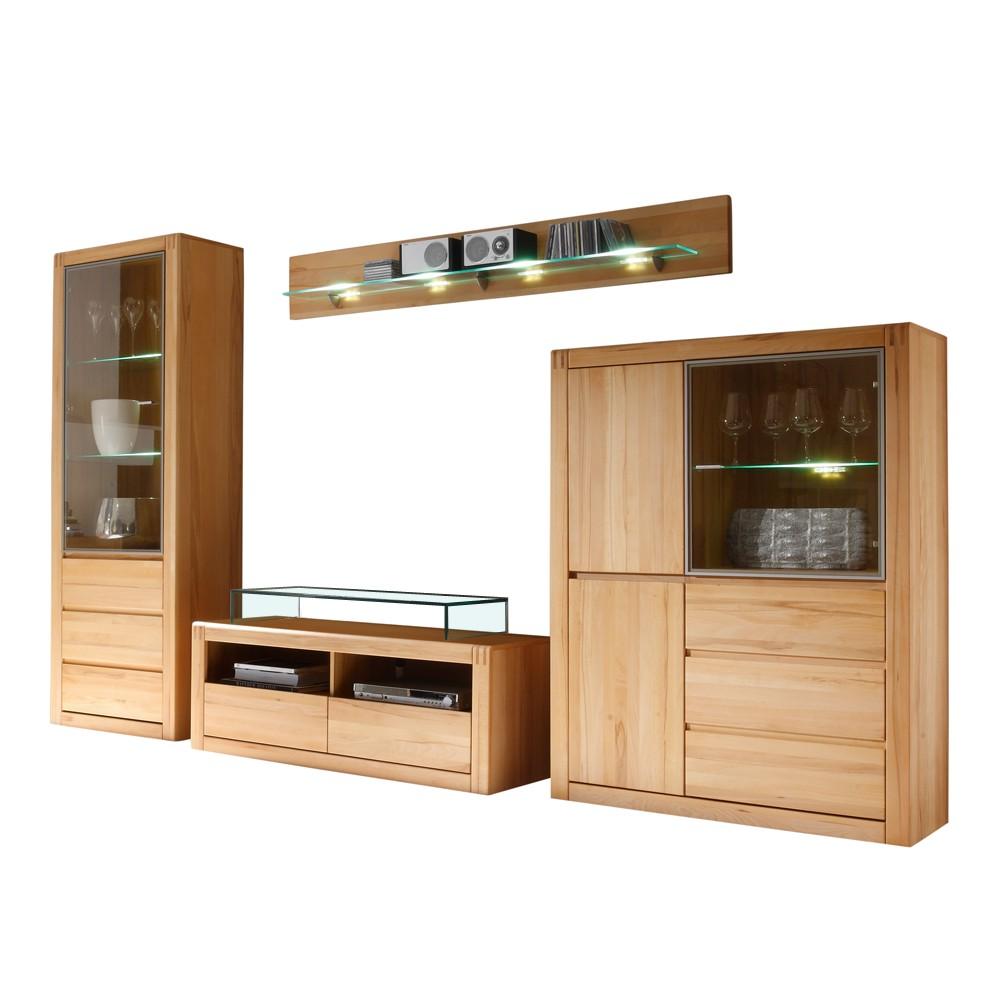 porta wohnwand kernbuche interessante ideen. Black Bedroom Furniture Sets. Home Design Ideas