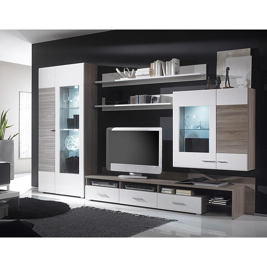 Design Wohnwand Straight ~ Wohnwand Forino (5tlg) – Weiß Hochglanz), California online kaufen