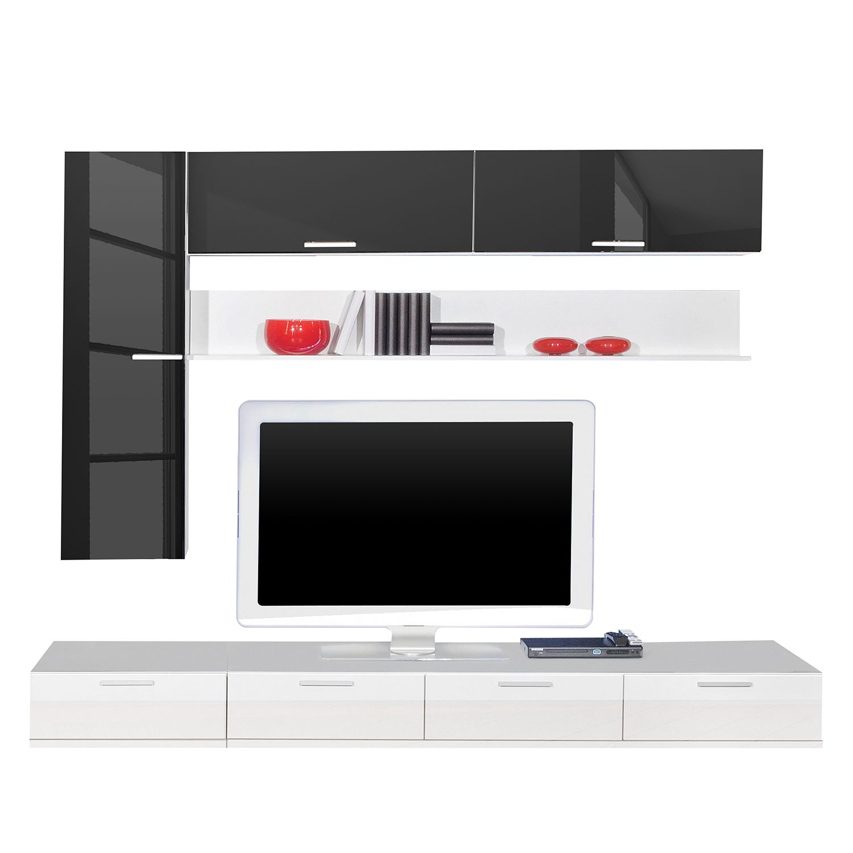 wohnwand wei hochglanz preisvergleich. Black Bedroom Furniture Sets. Home Design Ideas