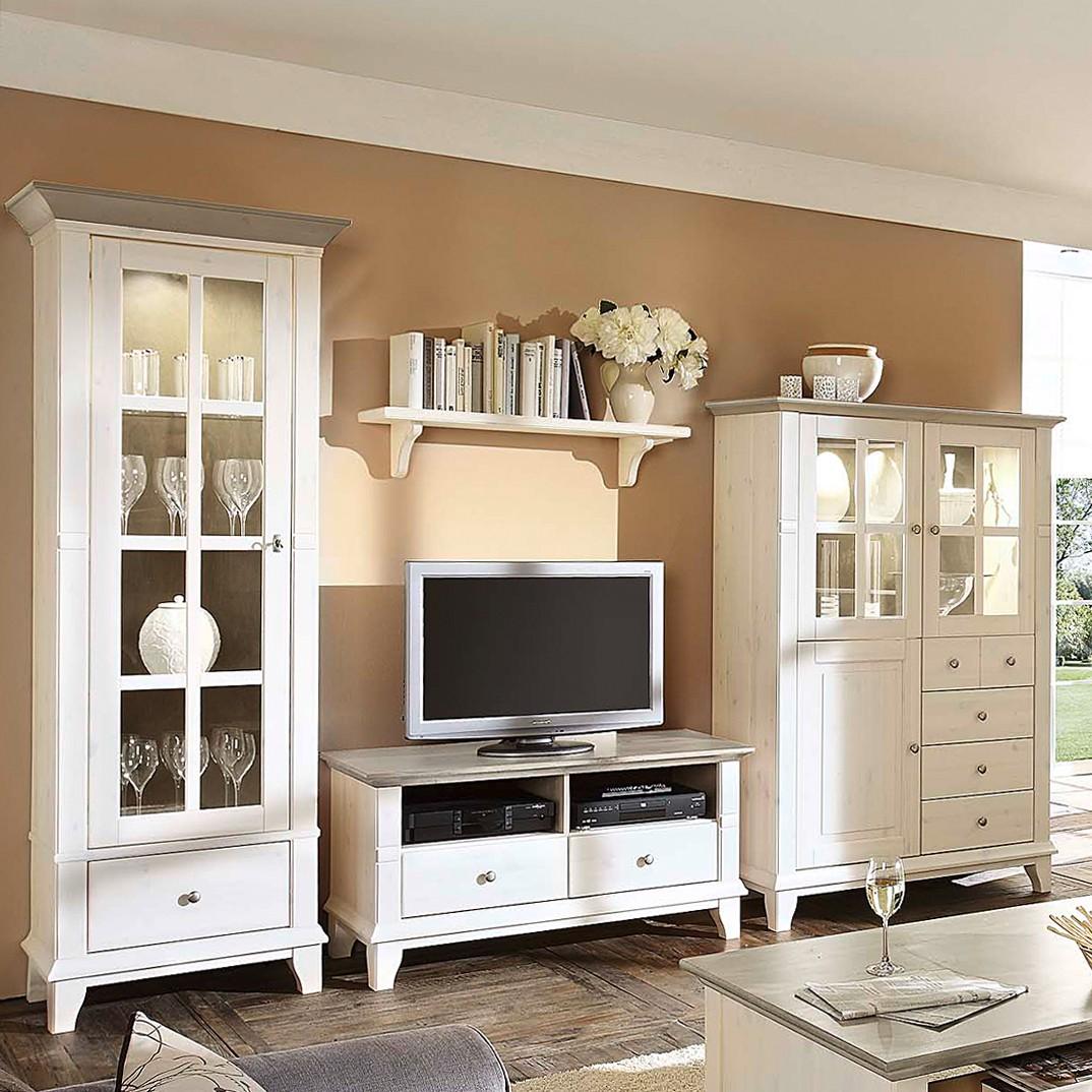 wohnwand georgia 4 teilig i kiefer massiv. Black Bedroom Furniture Sets. Home Design Ideas