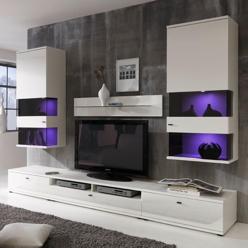 Wohnwand Leland (6-teilig) – Weiß, roomscape günstig kaufen