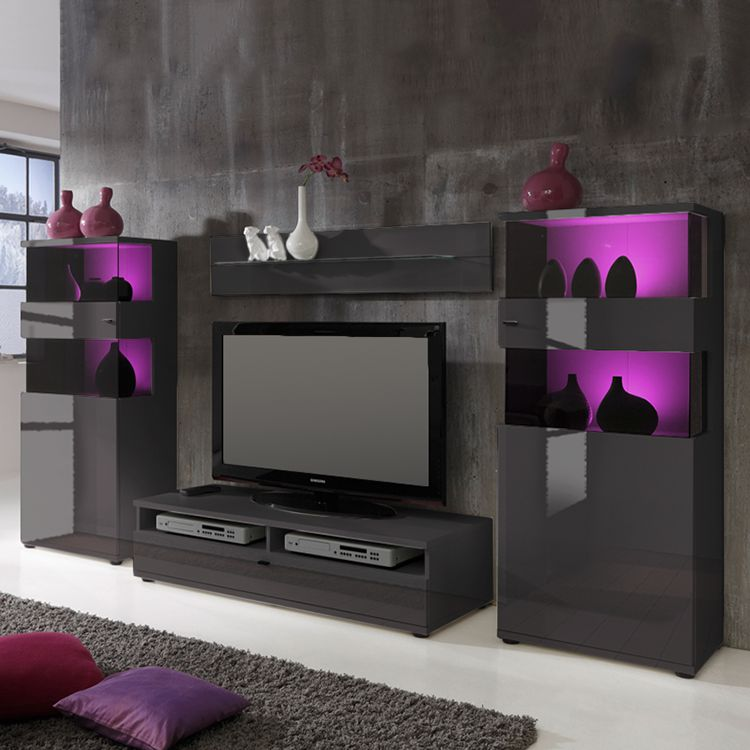 Wohnwand Leland III (4-teilig) – Grau, roomscape online kaufen