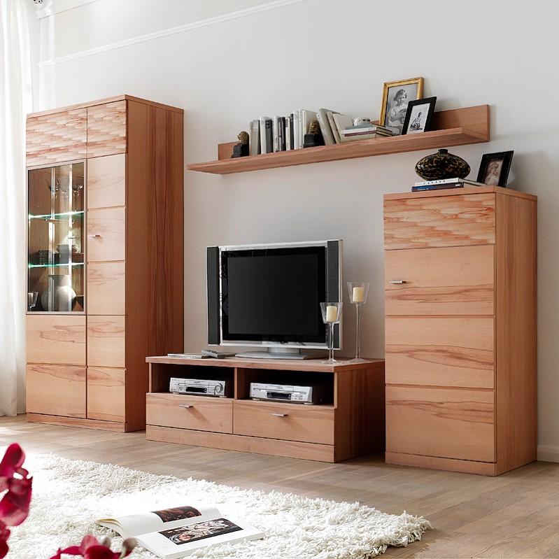 wohnwand madena iii kernbuche ge lt wohnwand madena iii. Black Bedroom Furniture Sets. Home Design Ideas
