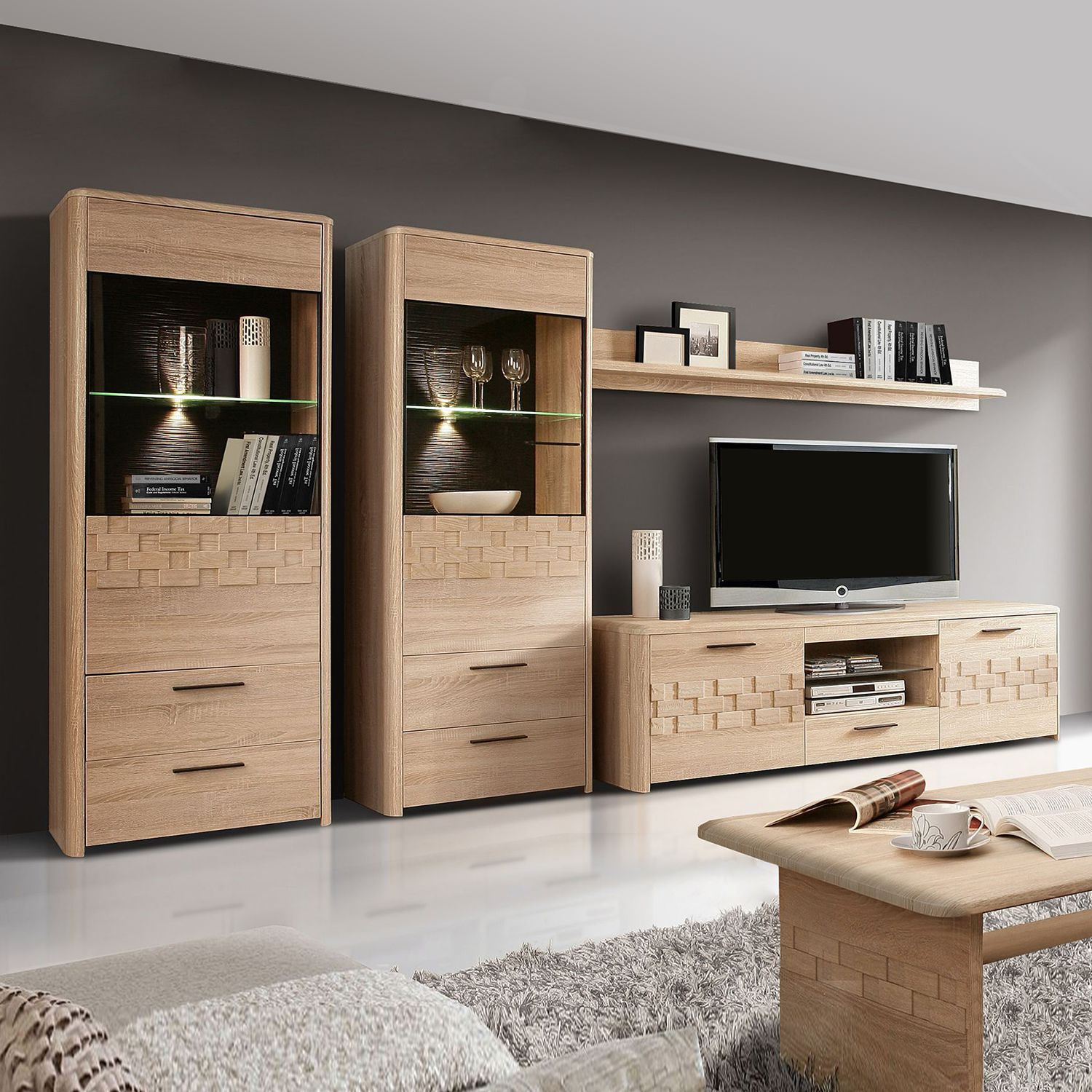 wohnwand massivholz sonstige modoform preisvergleiche erfahrungsberichte und kauf bei nextag. Black Bedroom Furniture Sets. Home Design Ideas