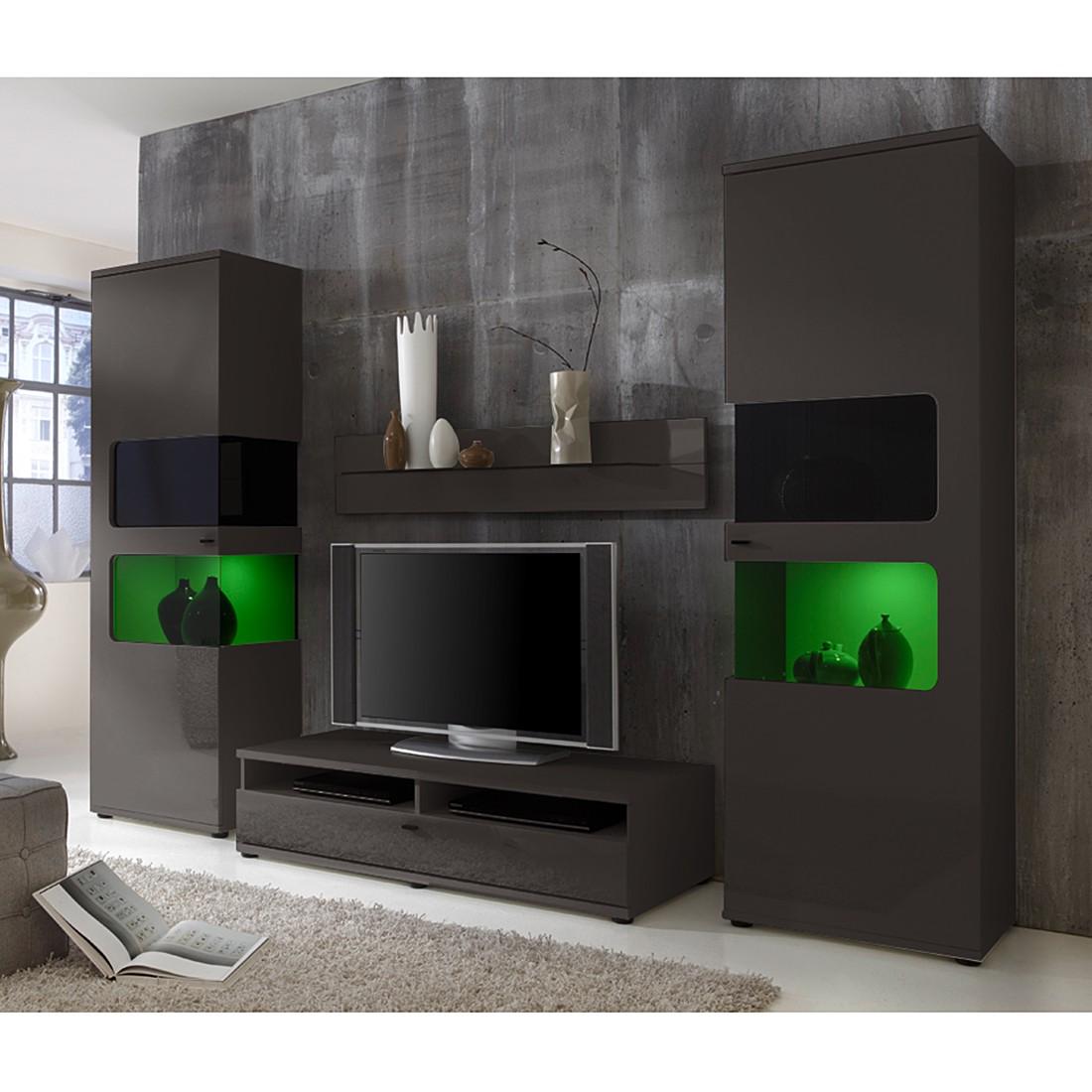 wohnwand monk ii 4 teilig grau roomscape bestellen. Black Bedroom Furniture Sets. Home Design Ideas