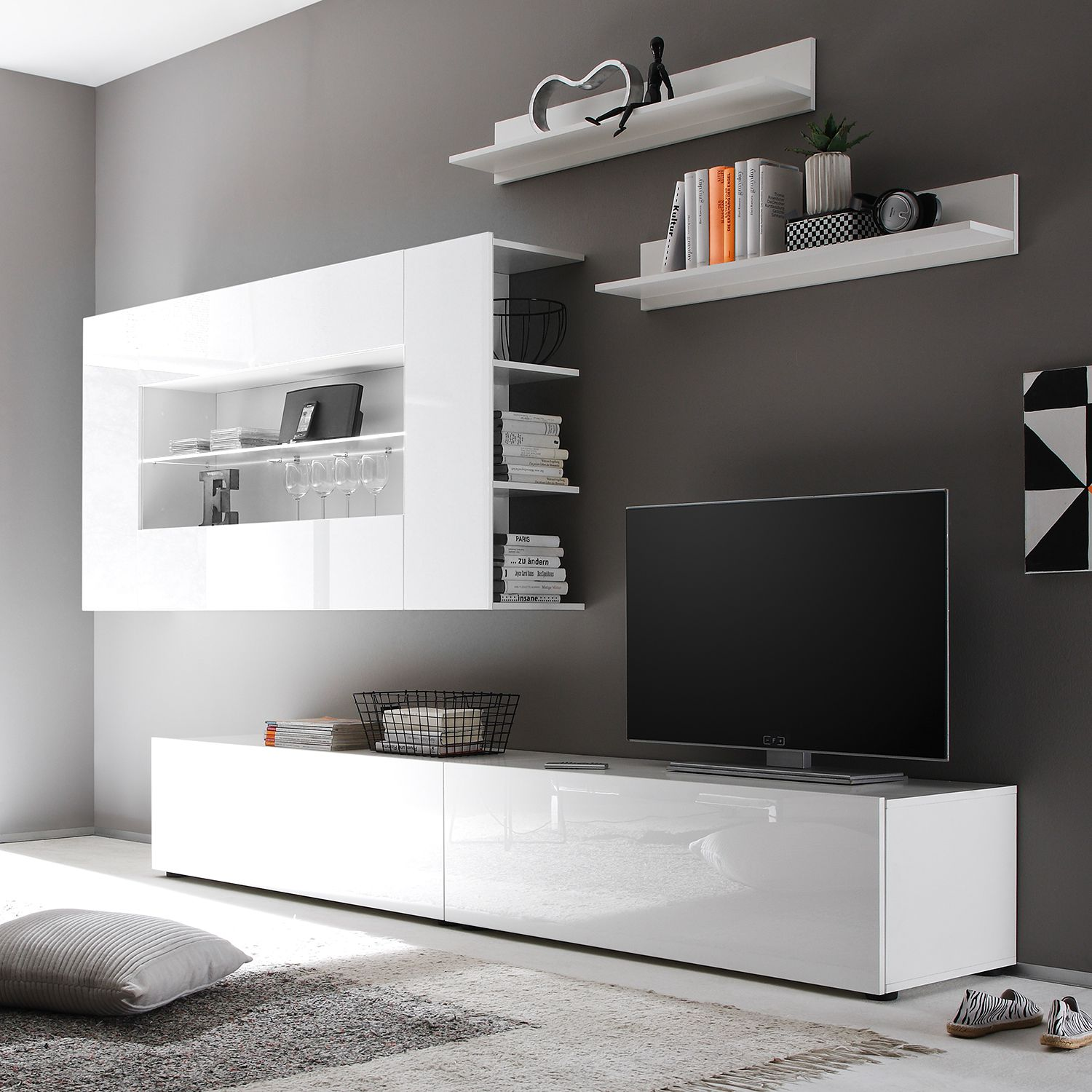 fernsehwand wei fabulous cheap erstaunlich babyzimmer farbe und tv wand selber tv wand selber. Black Bedroom Furniture Sets. Home Design Ideas