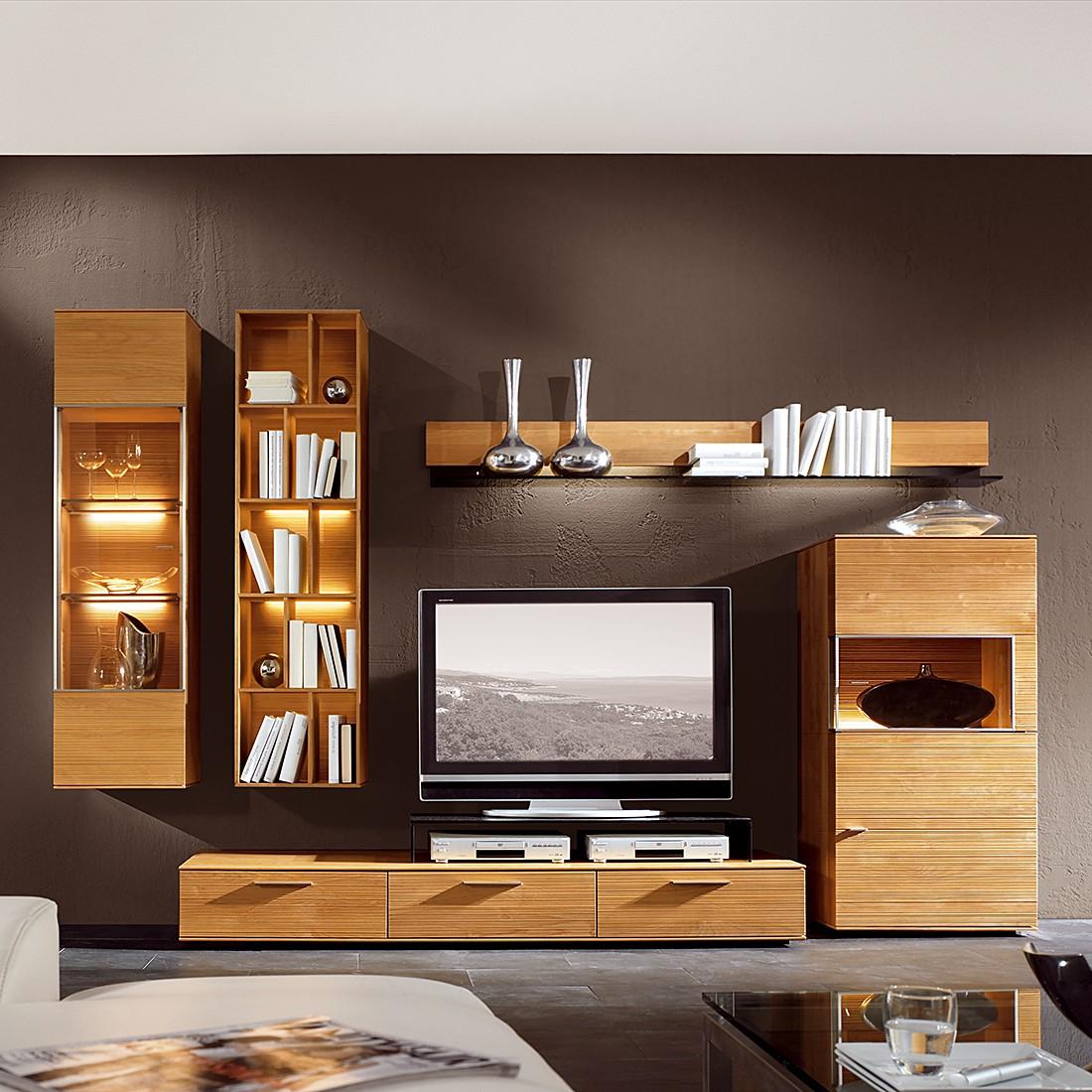Wohnwand Optima I 5 Teilig Erle Massiv Ohne Tv Aufsatz