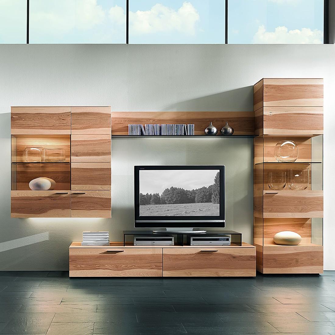 wohnwand pecano iv 4 teilig pecan nuss massiv ohne tv aufsatz beleuchtung hartmann kaufen. Black Bedroom Furniture Sets. Home Design Ideas