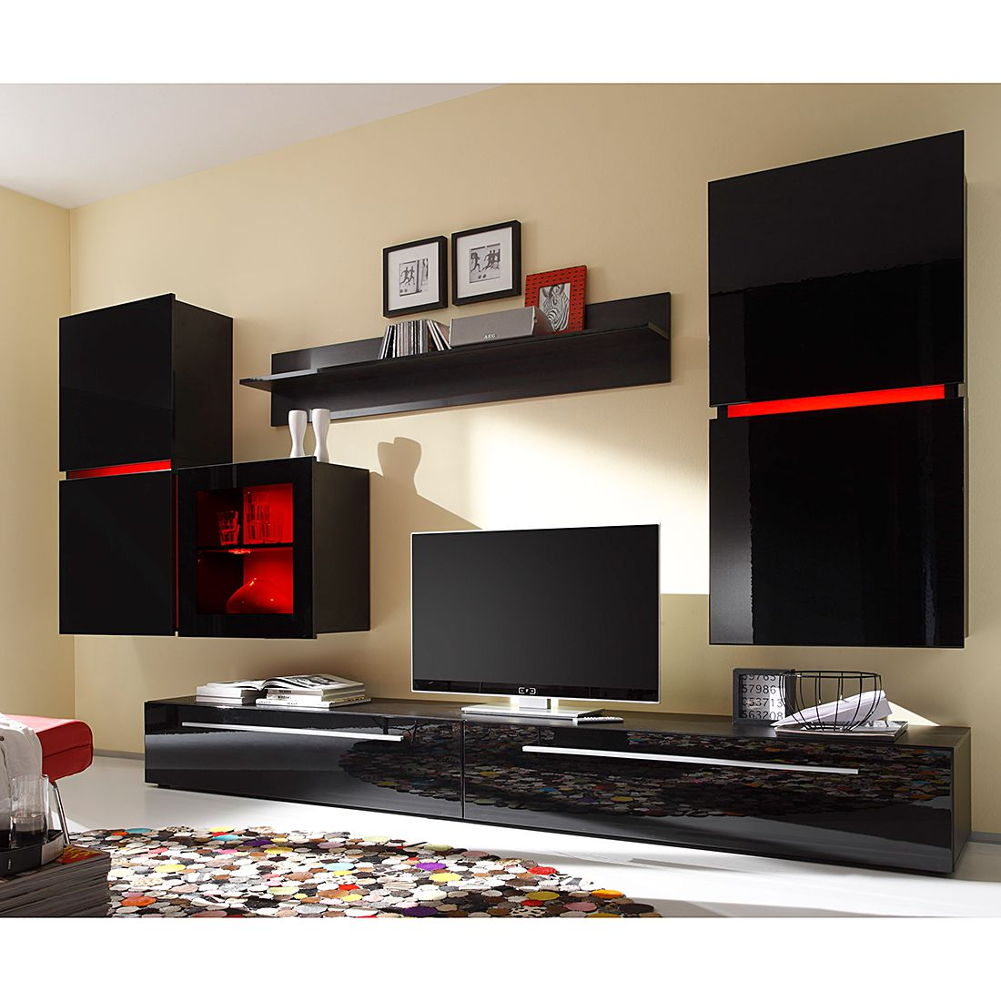 high tv italienische mobel hochglanz beste bildideen zu hause design. Black Bedroom Furniture Sets. Home Design Ideas