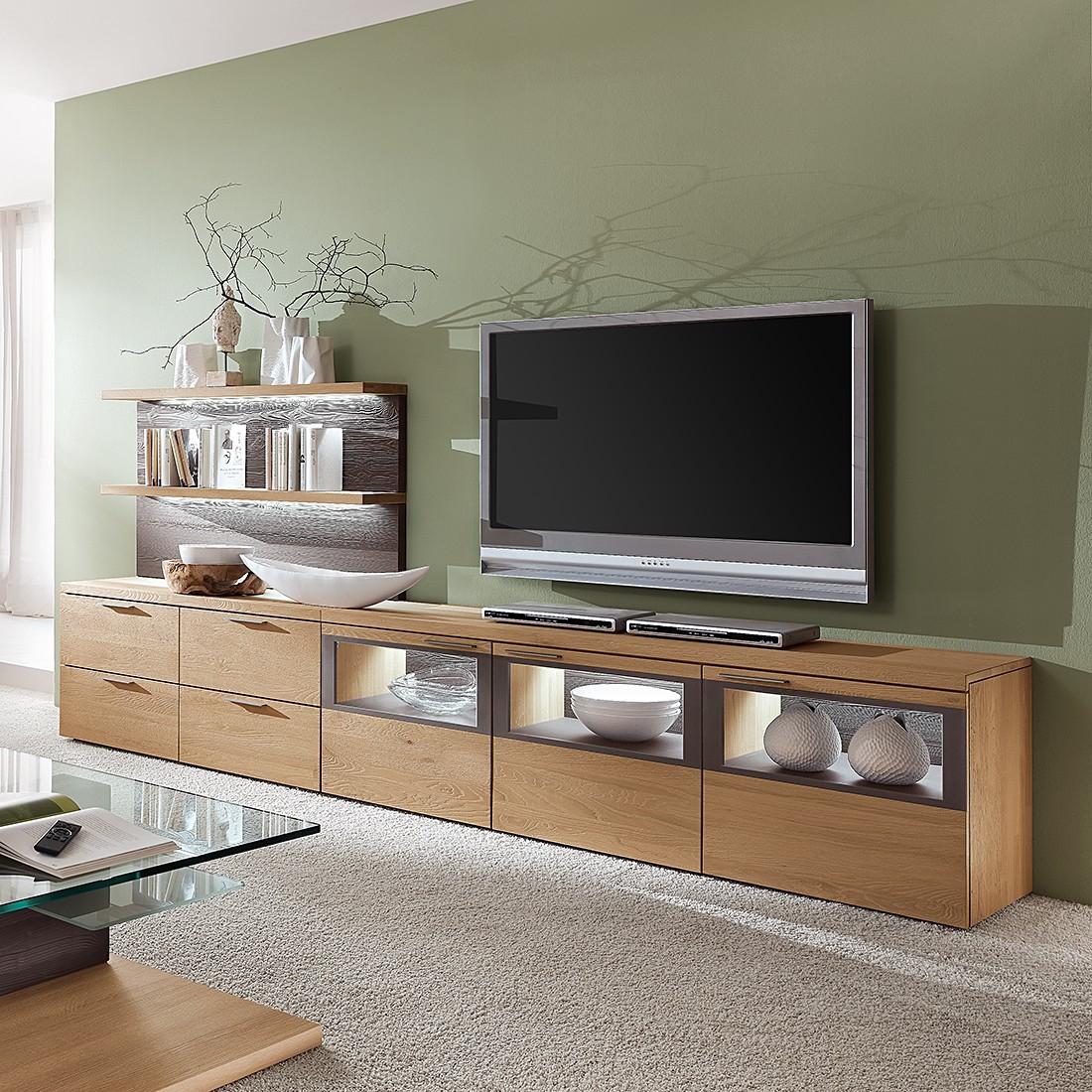 wohnwand eiche massiv preisvergleiche. Black Bedroom Furniture Sets. Home Design Ideas