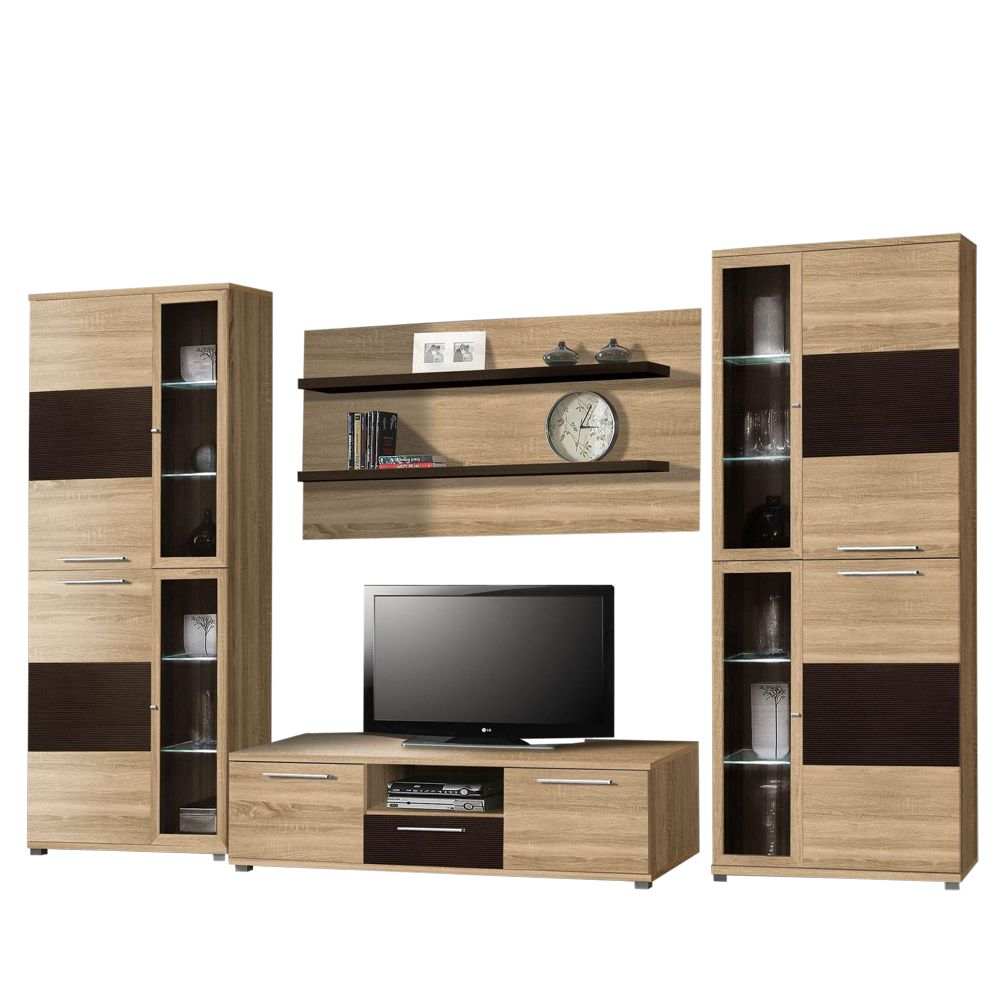wandregal eiche sonoma vicco cd regal dvd stnder eiche sonoma wandregal hngeregal bcherregal. Black Bedroom Furniture Sets. Home Design Ideas