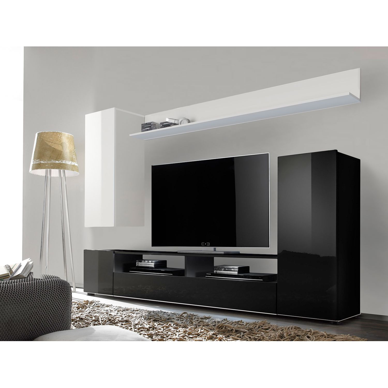 wohnw nde wei hochglanz g nstig kaufen. Black Bedroom Furniture Sets. Home Design Ideas