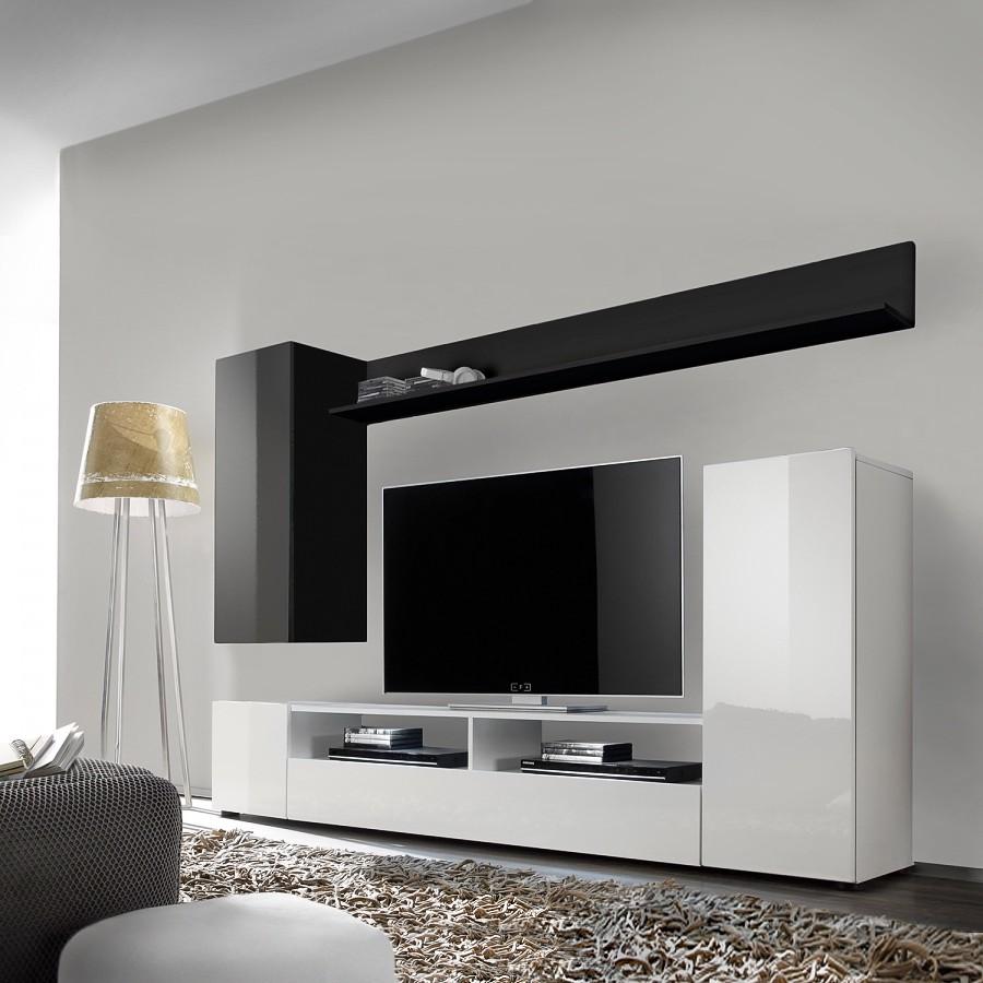 wohnwand schwarz wei preis vergleich 2016. Black Bedroom Furniture Sets. Home Design Ideas