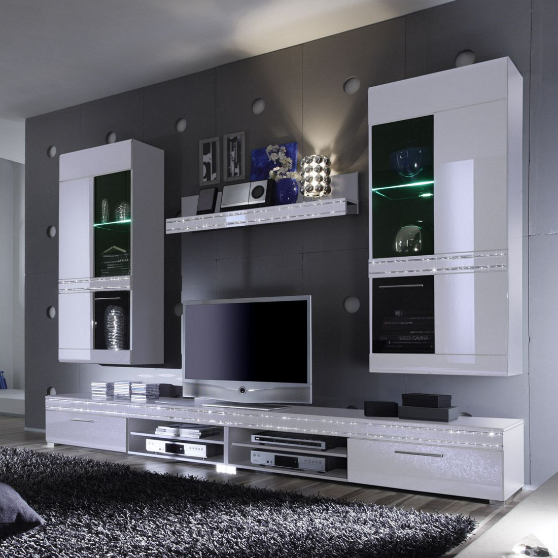 Perfekt Wohnwand Starlight (5 Teilig) U2013 Hochglanz Weiß