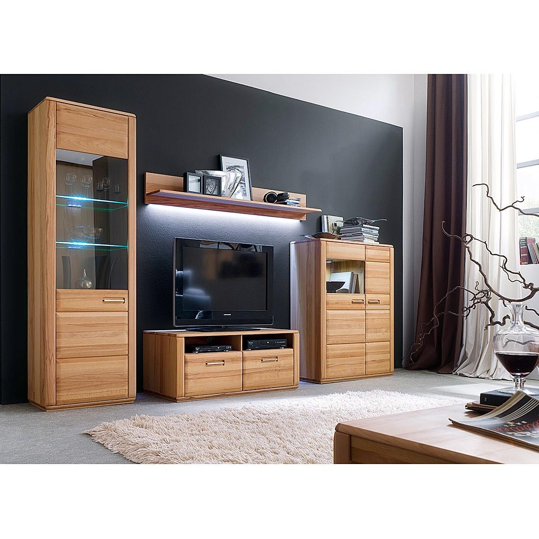 wohnwand structura i 4 teilig kernbuche jung und. Black Bedroom Furniture Sets. Home Design Ideas